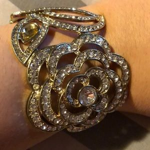 Jewelry - Flower gem encrusted bracelet